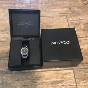 Movado Linio Diamond Black Dial Watch